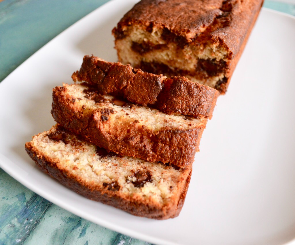 Gluten and Dairy Free Chocolate Chip Banana Bread
