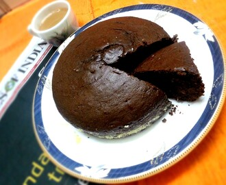 Eggless Chocolate Cake Recipe in Pressure Cooker
