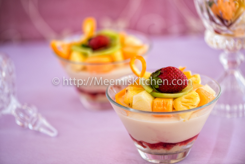 Sponge Fruit Trifle Delight