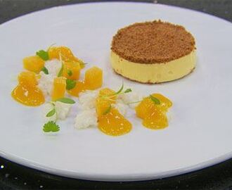 Mango Cheesecake with Coconut Tapioca