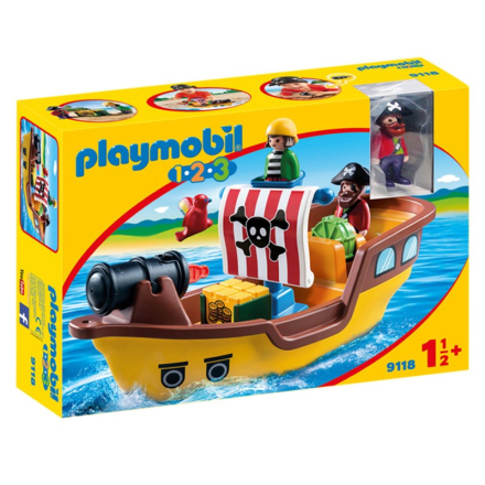 Playmobil9118 1.2.3 Piratskepp