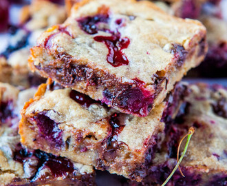 Chocolate Chip and Cherry Blondies
