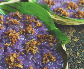 Bikò (Sweet Sticky Rice Cake with Coconut Curd Toppings)
