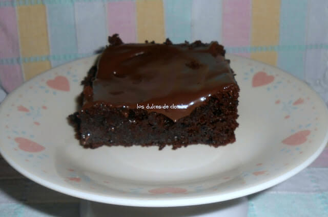 Brownie de chocolate sin gluten