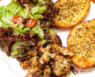 Grilled Mustard & Herb Chicken with Olive Oil Baked Potatoes