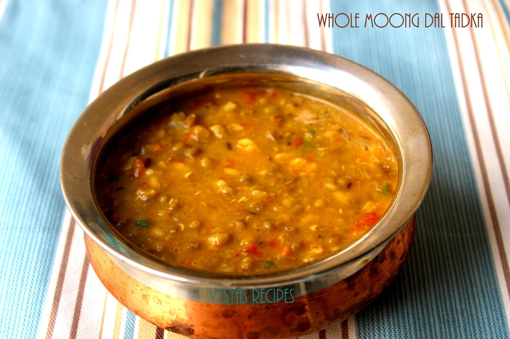 Dhaba Style Green Moong Dal Tadka - Green Moongdal Tadka Recipe