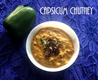 Capsicum chutney  recipe – How to make capsicum chutney recipe – side dish for idlis and dosas