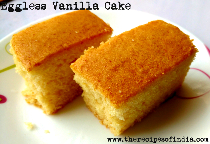 Eggless Vanilla Cake Using Condensed Milk