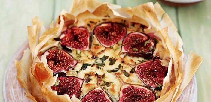 Amazing fig tart