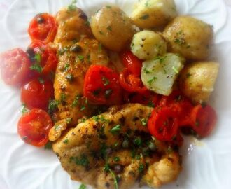 Chicken with Cherry Tomatoes and  Capers