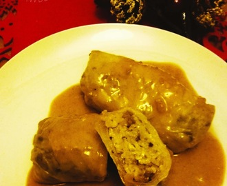 Cabbage rolls with mushrooms & gravy - Polish Christmas food #4