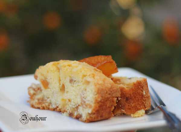 Gâteau à l'orange confite, Cake with orange confite