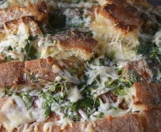 Cheesy Garlic Herb Pull Apart Bread. New Music From The Wolfhounds.
