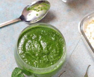 Green Chutney for Chaat Recipe