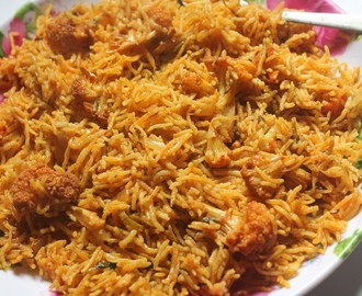 Cauliflower Biryani Recipe - Gobi Biryani Recipe