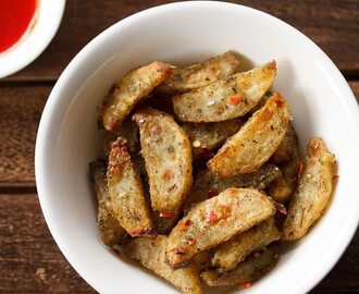 baked potato wedges recipe, how to make baked potato wedges recipe