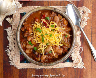 Six-pepper Venison Chili with Beans