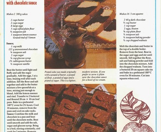 ※ American Cooking - (An Australian Take) Brownies / Pound Cake With Chocolate Sauce