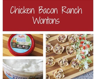 Chicken Bacon Ranch Wontons Featuring Sabra Farmers Ranch