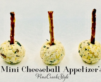 Mini Cheeseball Appetizers...