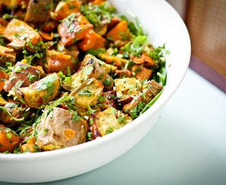 You say Sweet Potato, I say Kumara Salad with Coriander Lime Dressing