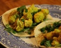 Curried Cauliflower Wraps