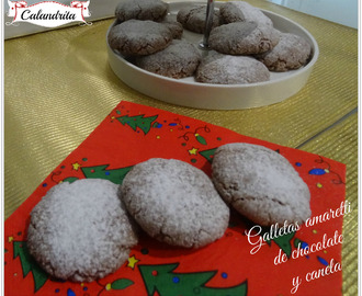 GALLETAS AMARETTI DE CHOCOLATE Y CANELA