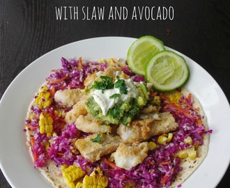 Fish Tacos with Slaw and Avocado