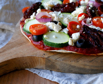 VEGGIE WRAP PIZZA