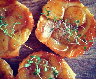 Little Apple Tarte Tartins with Thyme, Lemon and Cinnamon Caramel