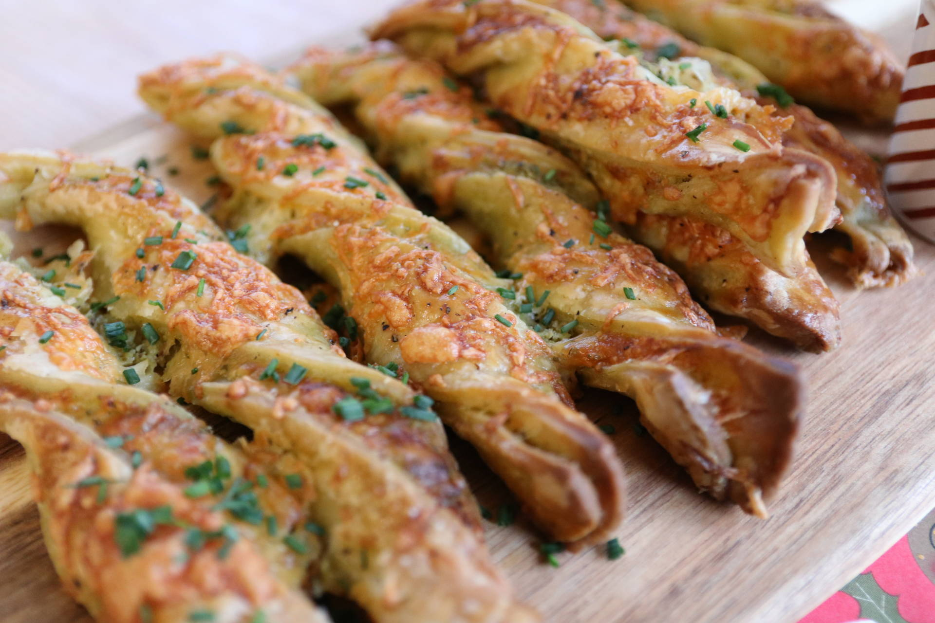 RECIPE: Gluten Free Cheese and Pesto Straws (Dairy Free) using Jus-Rol Gluten Free Puff Pastry