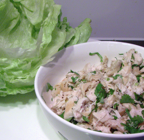 Chicken Lettuce wraps – less than 200 calories per serve