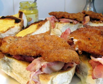 Breaded Pork Sandwich – with Bacon