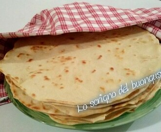 Tortillas messicane di farina