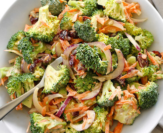 Broccoli Salad with Honey Yogurt Dressing