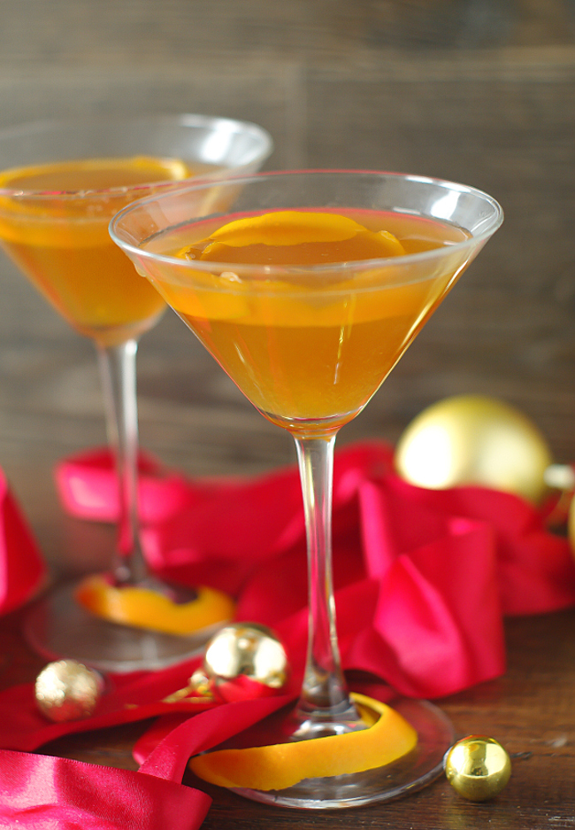Mandarin Vodka Martini Cocktail
