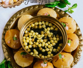 Pani puri recipe, How to make best pani puri at home (Video recipe)