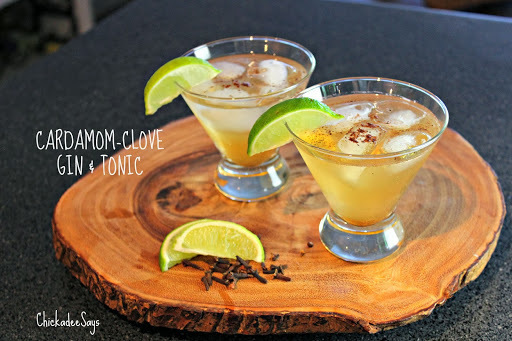 Autumn Drink Series: Cardamom-Clove Gin and Tonic