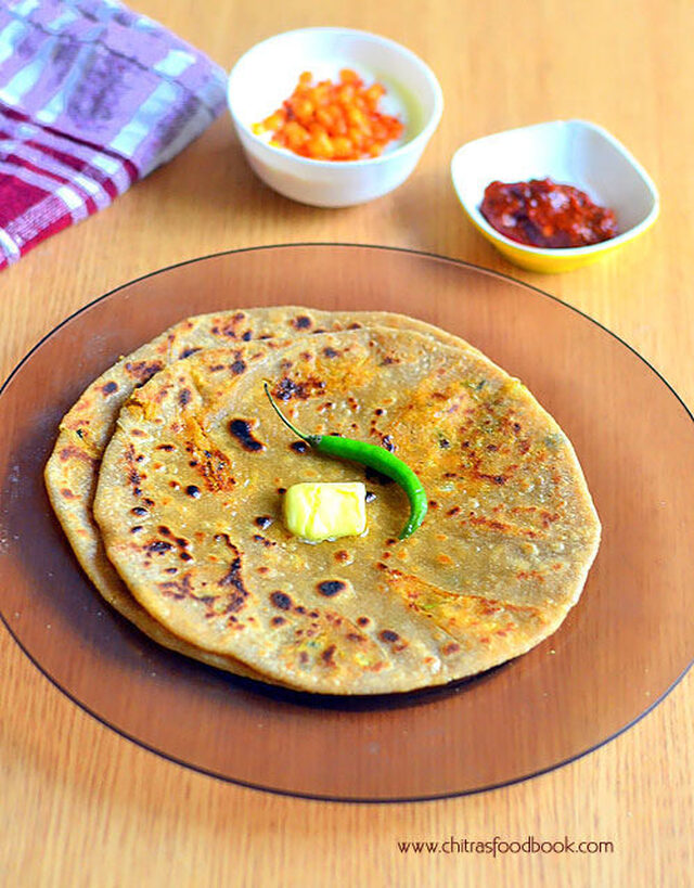 Gobi Paratha Recipe–How To Make Cauliflower Paratha With Step By Step Photo,Video Recipe