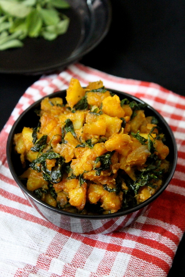 aloo methi recipe, aloo methi sabzi curry