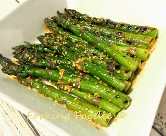 Sesame-Miso Asparagus or Green Beans (...or Broccoli?)