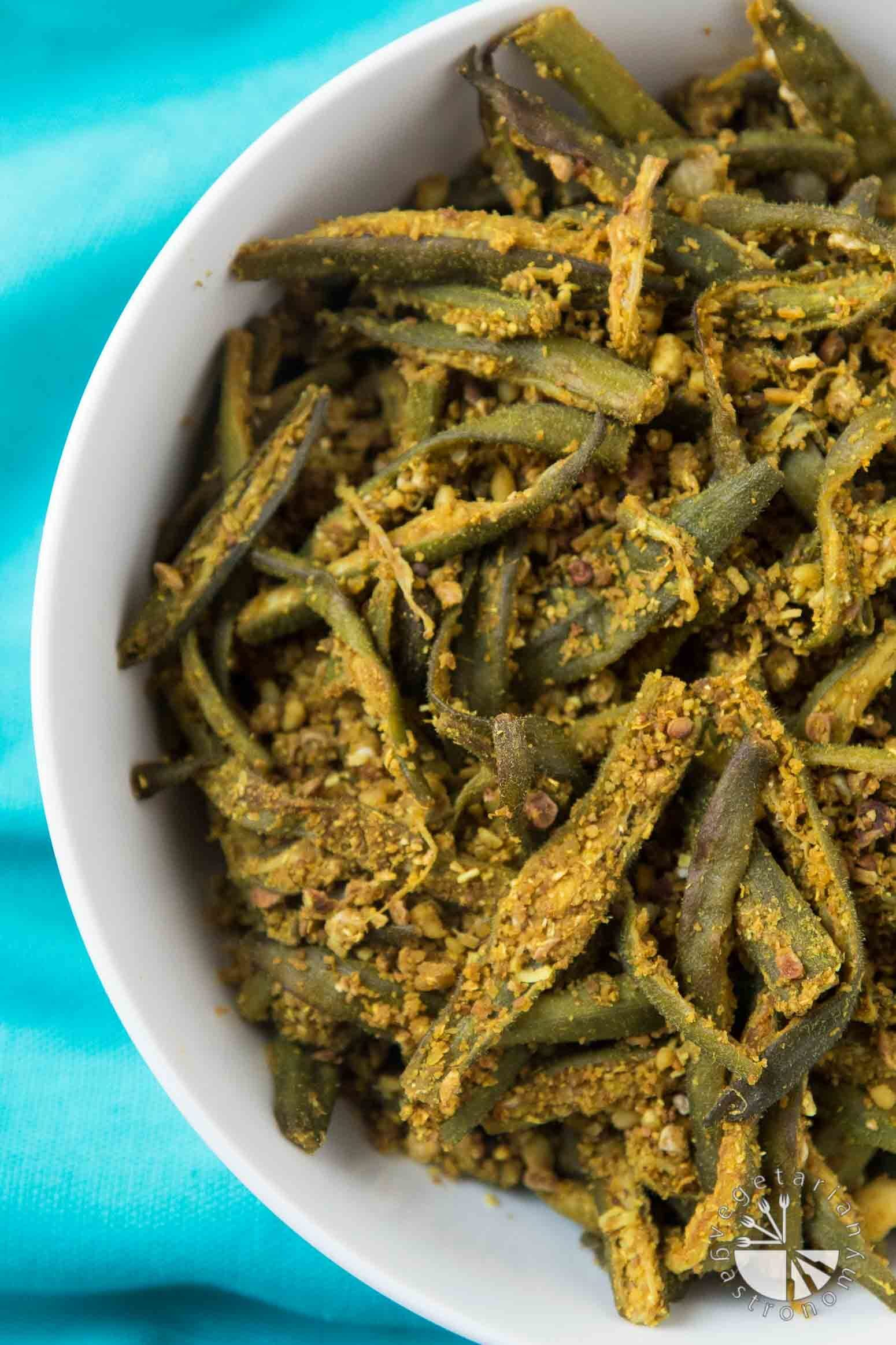 Easy Curried Okra (Bhindi Masala)
