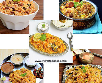 Veg Biryani Recipes – 40 Biryani Varieties