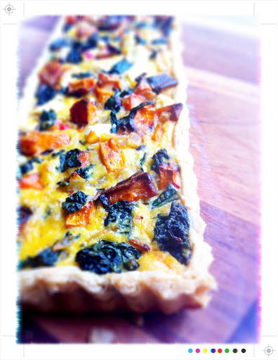 In Season - Roast Pumpkin Cavolo Nero and Feta Tart