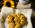 Coconut Flour Pumpkin Chocolate Chip Cookies