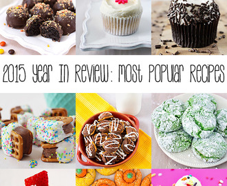 2015 Year in Review: Most Popular Recipes