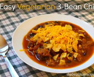Easy Vegetarian Dinner Recipe: 3-Bean Chili