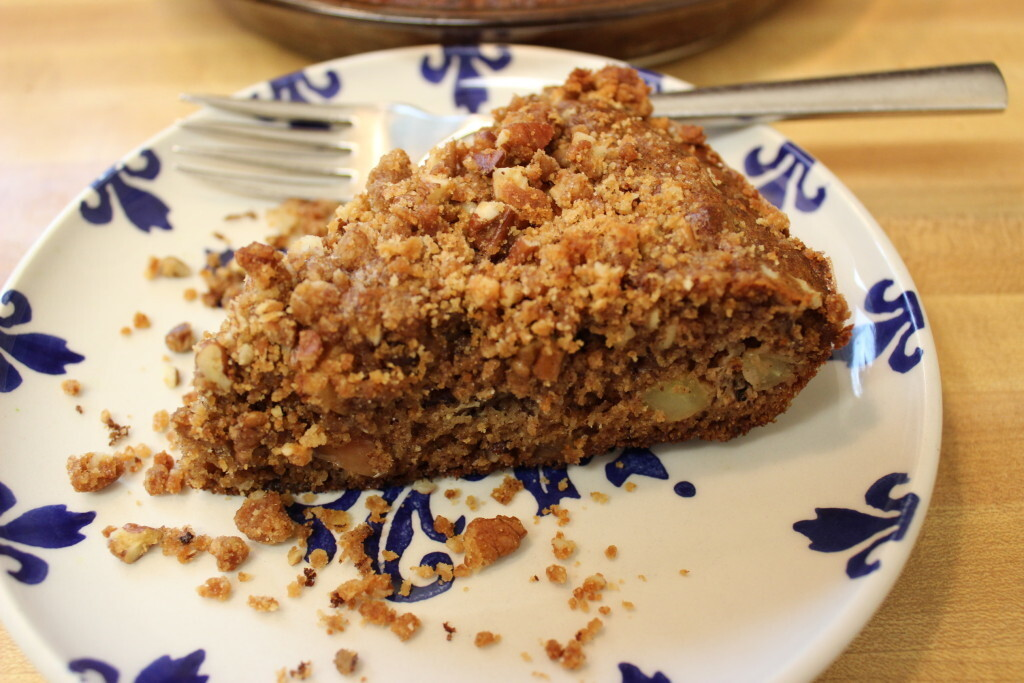 Paleo coffee cake, with apples & spices