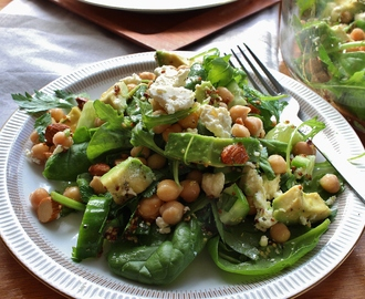 Parsley, Chickpea, Avocado and Greens Salad