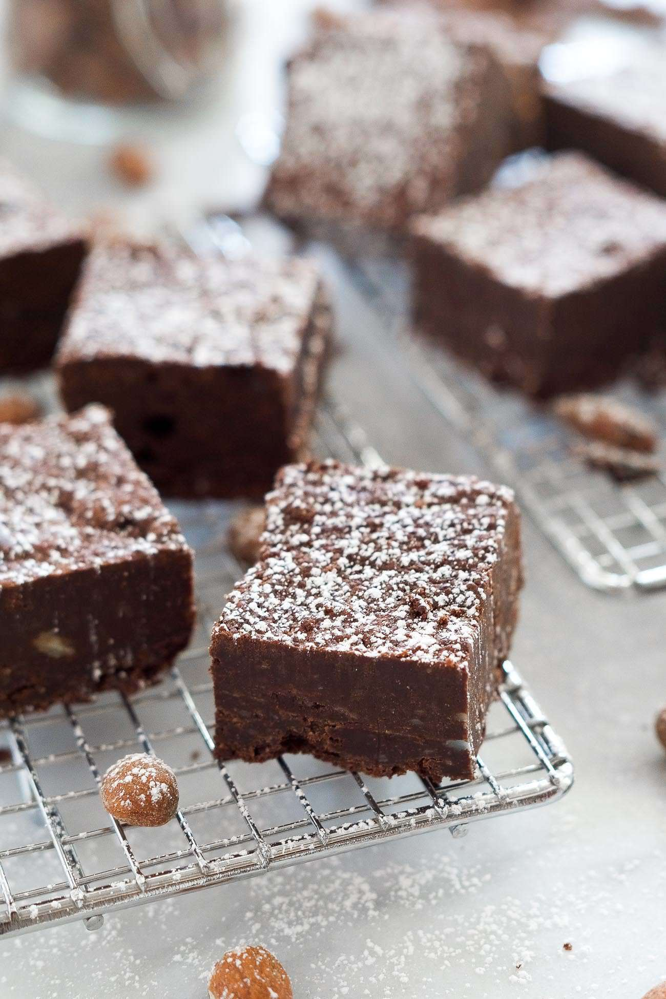 Fudgy Almond Butter Flourless Brownies